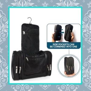 Other - 🌺 NEW BLACK LEATHER 4-IN-1 HANGING TRAVEL BAG